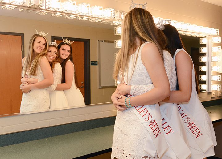From left, Marissa Stacy, Samantha Robbins and Cassidy Sampson will compete in the Miss Indiana pageant festivities June 15 to 18 in Zionsville. (Photo by Theresa Skutt)