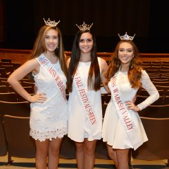 From left, Marissa Stacy, Cassidy Sampson and Samantha Robbins, who will compete in the Miss Indiana pageant festivities June 15 to 18 in Zionsville. (Photo by Theresa Skutt)