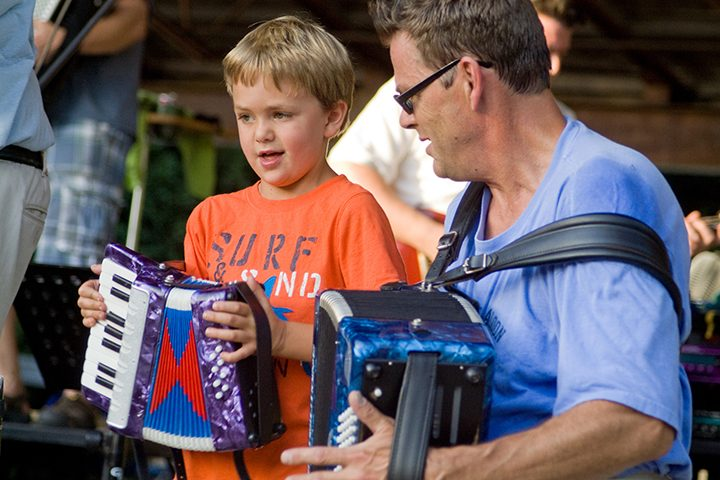Concertgoers enjoy music from Polkaboy during the band's performance last year at Cool Creek. (Submitted photo)