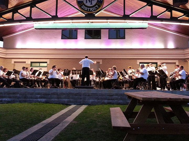The Fishers Wind Symphony, pictured during a previous performance at the Nickel Plate District Amphitheater, will play its first Fourth of July concert at 4 p.m. July 3 at Legacy Bible Church in Noblesville. (Submitted photo)