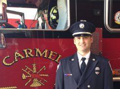 Kyle Condra, Carmel Fire. Dept, was chosen as 2016 torchbearer. (Submitted photo)