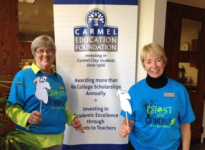 Stephanie McDonald, left, and Barb Danquist are co-executive directors of the Carmel Education Foundation. (Submitted photo)