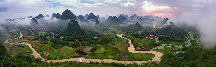 Karst landforms of Yangshuo. (Photos by Brian McGuckin)