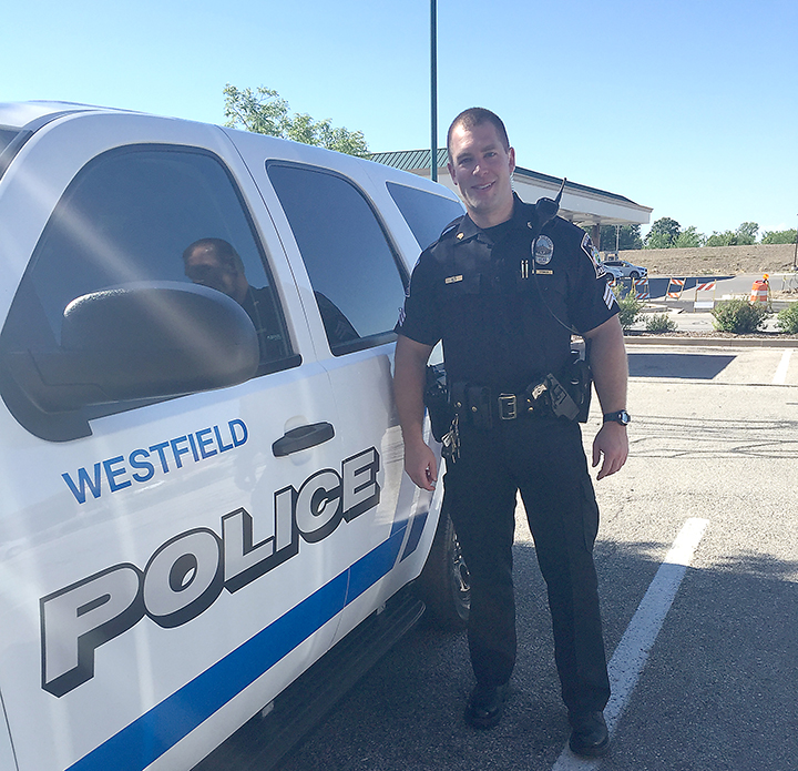 Eric Grimes is a Westfield Police Dept. sergeant. (Photo by Anna Skinner)