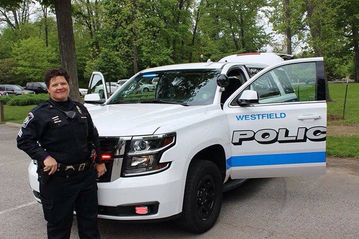 Sgt. Jackie Carter is one of six women on the Westfield Police Dept. (Submitted photo)