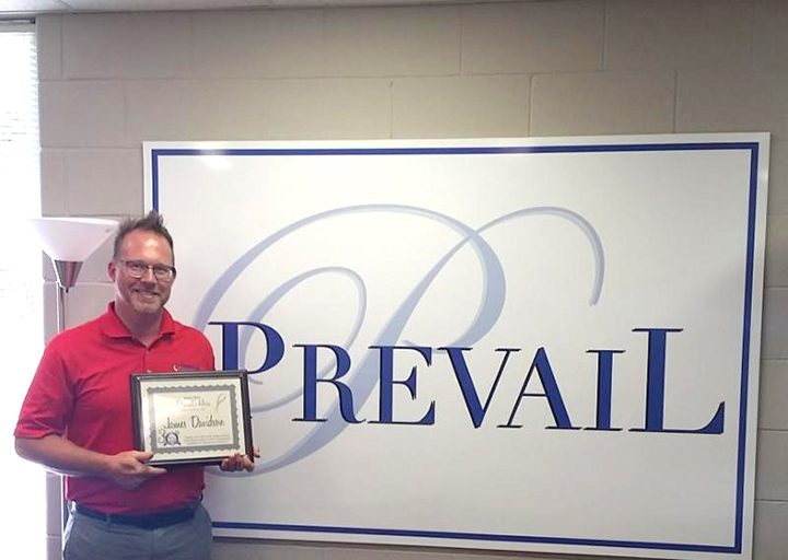 James Davidson was the recipient of Prevail's Hero of the Month award. (Submitted photo)