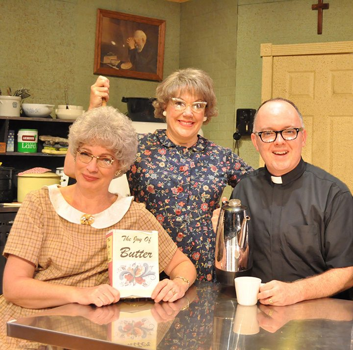 From left, actors Licia Watson, who plays Vivian Snustad, Karen Pappas, who plays Mavis Gilmerson, and Eddie Curry, who plays Pastor E.L. Gunderson. (Submitted photo)