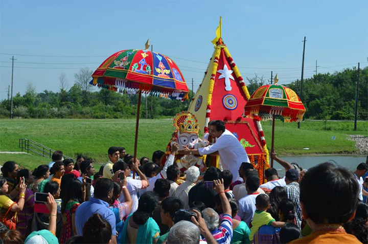 A crowd gathers during last year's Chariot Festival. (Submitted photo)