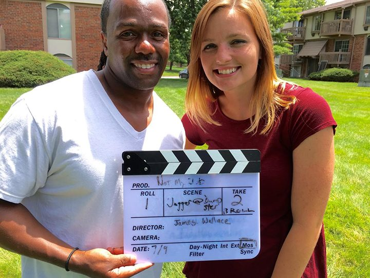 Dominick Wilkins (Fishers) and Emily Lantz (Noblesville) were actors and participants in the 2016 Indianapolis 48 Hour Film Project. The winning film will be chosen and announced at the Indy Film Fest onJuly 19,and the Indy Film Fest runs until July 24.(Photo by Amy Pauszek)