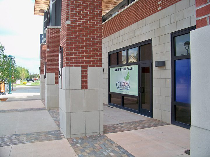 The new Citizens State Bank branch in The Switch will be the first banking location in the Nickel Plate District when it opens later this year. (Photo by Sam Elliott)