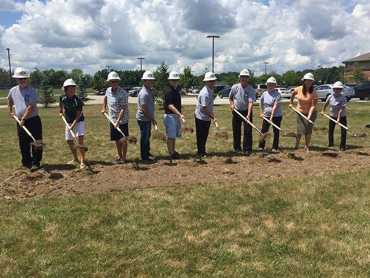 From left, Bruce Watson, Dr. Sherry Grate, Chuck Lehman, Todd Holzworth, Tom Dooley, Kurt Wanniger, Jerry Rosenberger, Ann Godby, Danielle Carey Tolan and Cathy Patterson. (Photo by Anna Skinner)