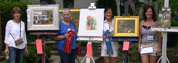 Winners from the 2015 Plein Air Paint Out include, from left, Donna Short, Ann Cripe, Hewook Lee and Stephanie Roberts. (Submitted photo)