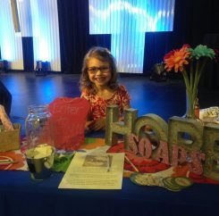 Hope Reid sells Hope Soaps at the 2016 Traders Point Christian Church women's conference. (Submitted photo)