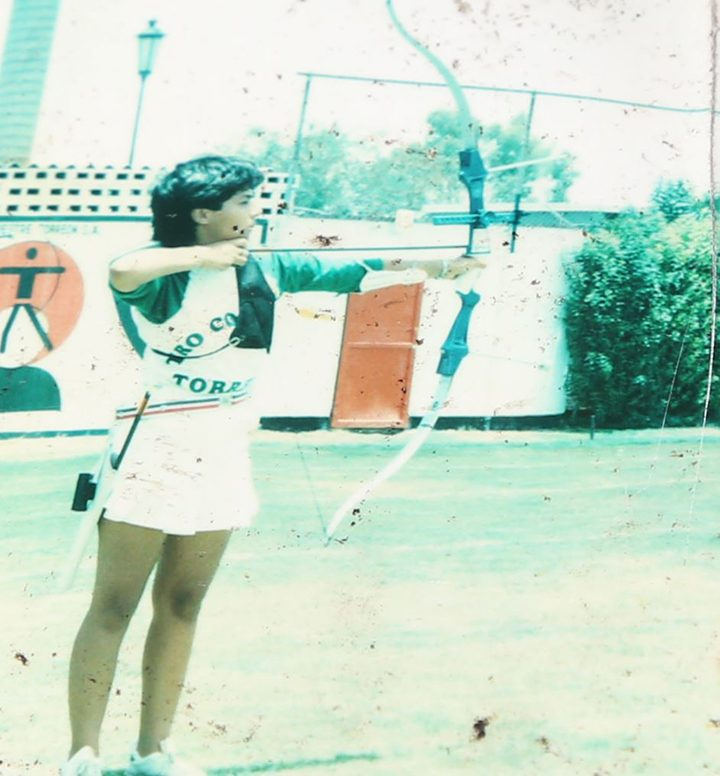 Suarez practices archery as a teenager in Mexico. (Submitted photo)