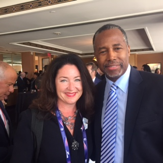 Suarez pauses with Ben Carson, former Republican presidential candidate, at the 2016 Republican National Convention. (Submitted photo)