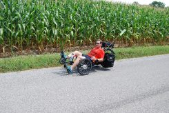 Glenn Howell will ride a recumbent bike around Lake Michigan to raise money for his church and minstry efforts it supports. (Submitted photo)