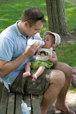 Ryan Shreve holds his son, Andrew, in 2009. (submitted photo)
