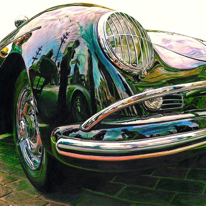Paul Kihn focuses on cars in his artwork. (Submitted photo)