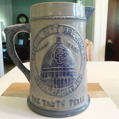 A stoneware serving pitcher from the Capital City Brewing Company, which was located south of downtown Indianapolis and was in business from 1905 to 1915. (Submitted photo)