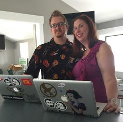 Spencer and Heather Sokol own Studio 27, a web design and mobile app business. (Photo by Anna Skinner)