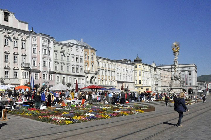 City Square of Linz, Austria. (Photo by Don Knebel)