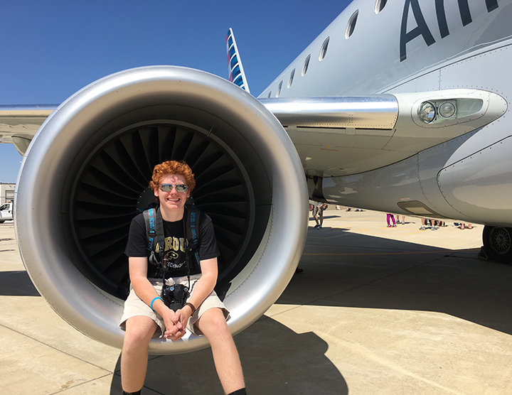 Alex Pegram mixes a love of planes and photography (Submitted photo)