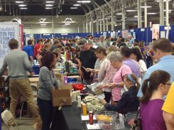 Attendees sample gluten free products at a previous Gluten Free Food Allergy Festival event in Indianapolis. (Submitted photo)