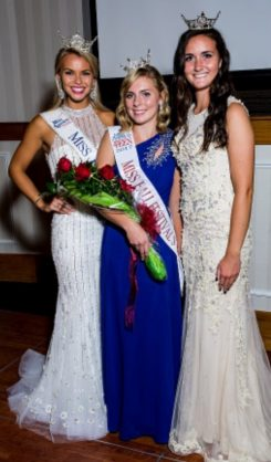 Andi Hagen, center, the 2017 Miss Fall Festival Outstanding Teen, with 2016 Miss Indiana Brianna DeCamp, left, and 2016 Miss Fall Festival Outstanding Teen Cassidy Sampson. (Submitted photo)