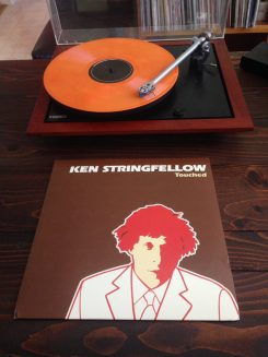 The orange-cream vinyl record is a special edition from Azucar Records. (Submitted photo)