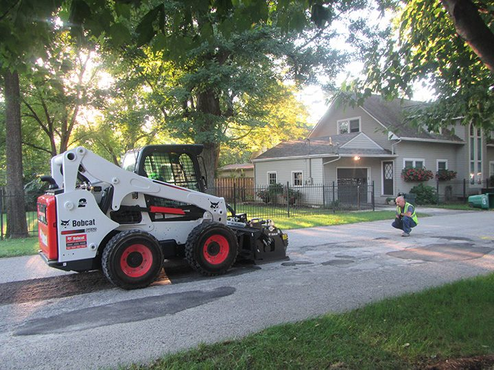 A new milling machine is replacing the traditional method of filling potholes. (Submitted photo)