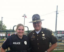 Lebanon Police Officer Taylor Nielsen and her father, Boone County Sheriff Mike Nielsen. (Submitted photo)