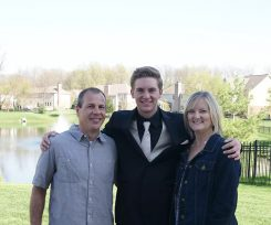 From left, Pete, Mike and Sandy Rocco before Mike's prom last spring. (Submitted photo)