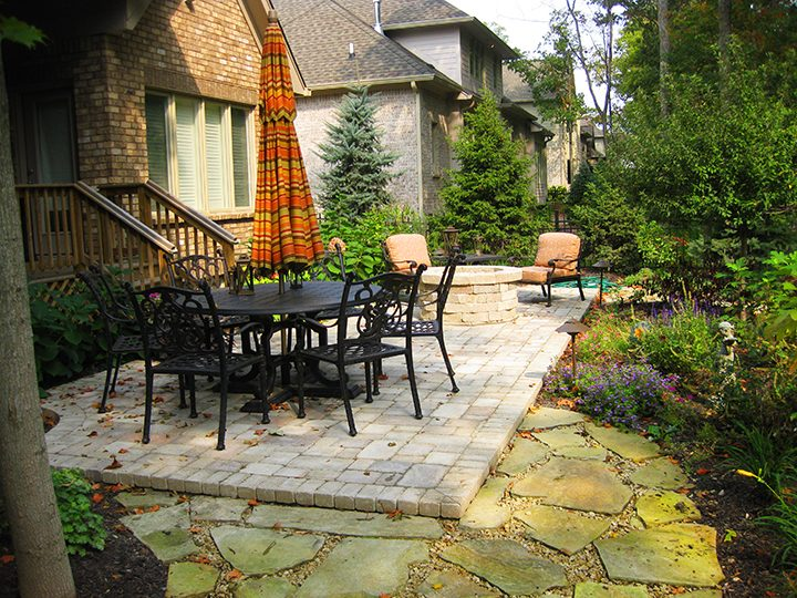 With this patio, solutioneering was used to transform and design the space with pavers. (Submitted photo)