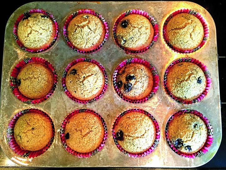 Oat bran blueberry muffins. (Submitted photo)