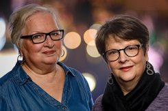 Marianne Doyle (left) and Lynne Manning are the founders of Zionsville Little Theatre Company. (Submitted photo by Roger Manning)