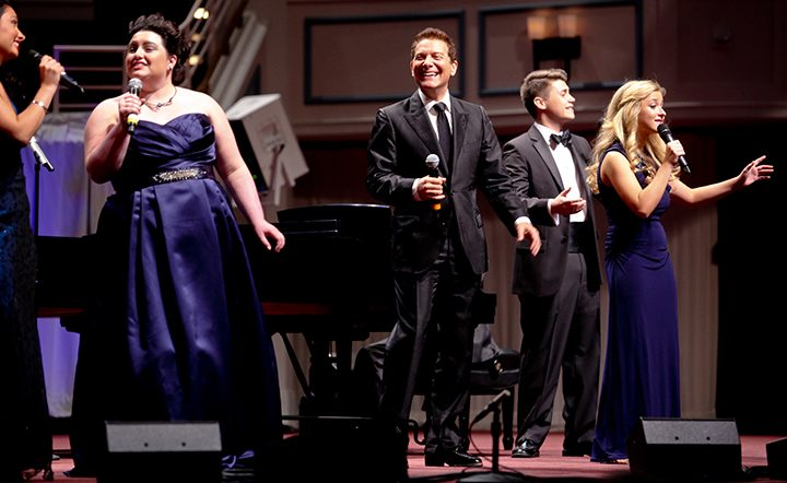 Maddie Baillio, left, performs onstage with Michael Feinstein. (Submitted photo)