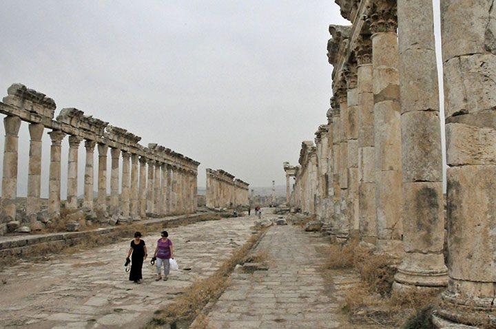 Cardo Maximus in Apamea, Syria (Photo by Don Knebel)