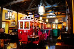 The Old Spaghetti Factory features a trolley in the dining area where guests can enjoy a meal. (Submitted photo)