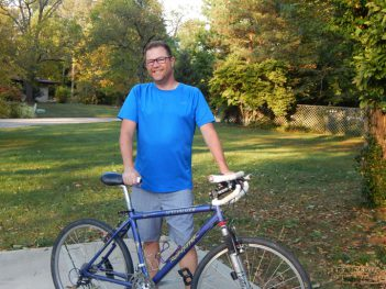 Bob Raduchel logged 1,230 miles on his bike riding every street in Carmel this year. (Submitted photo)
