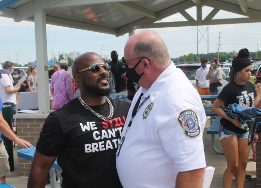 Whitestown gathers to honor George Floyd