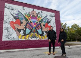 Fishers resident helps with Westfield mural