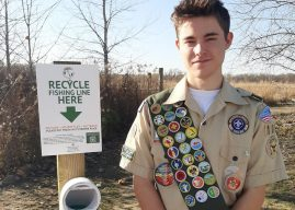 Westfield Eagle Scout project centers on fishing line recycling