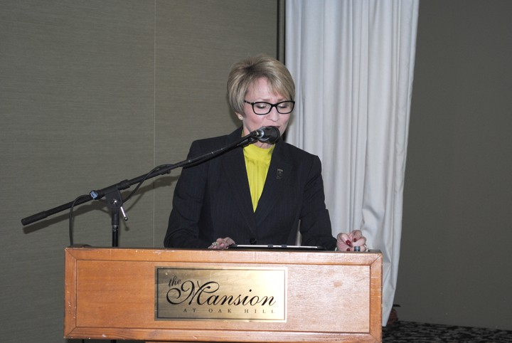 Lt. Gov. Sue Ellspermann was the keynote speaker at HAND's annual breakfast meeting. (Photo by Mark Ambrogi)