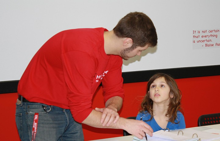 Student Sofia Kite works with instructor Kenneth Crane. (Submitted photo)