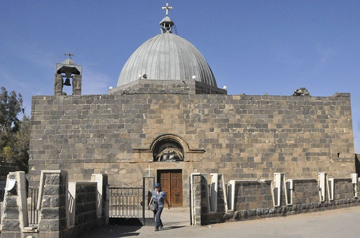 Church of St. George in Ezra, Syria (Photo by Don Knebel)