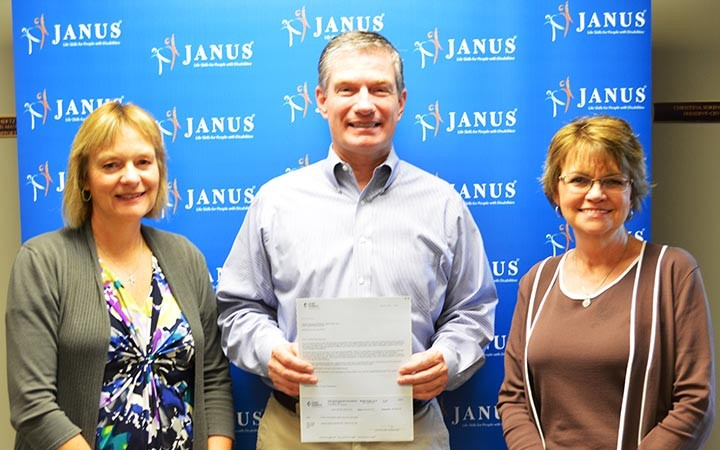 Pictured (Left to right) Christina Sorensen, Janus President/CEO, Mark LaBarr, Government and Community Relations Manager, Duke Energy, and Debbie Laird, Senior Vice President of Development and Transportation. (Submitted photo)